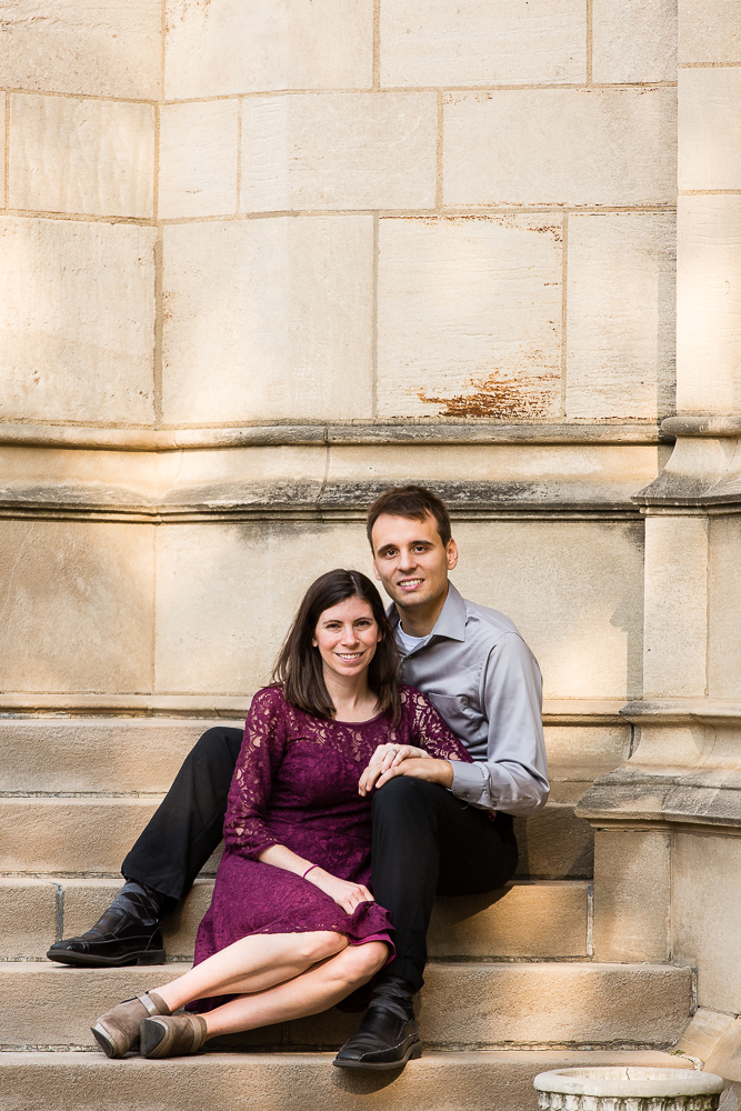 cathedral of learning engagement photo